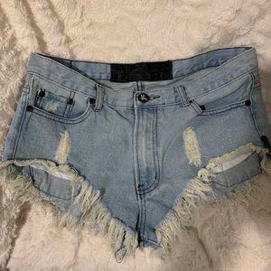 One Teaspoon Jean denim shorts
